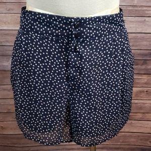 LAUREN CONRAD Polka Dot Dressy shorts size 10